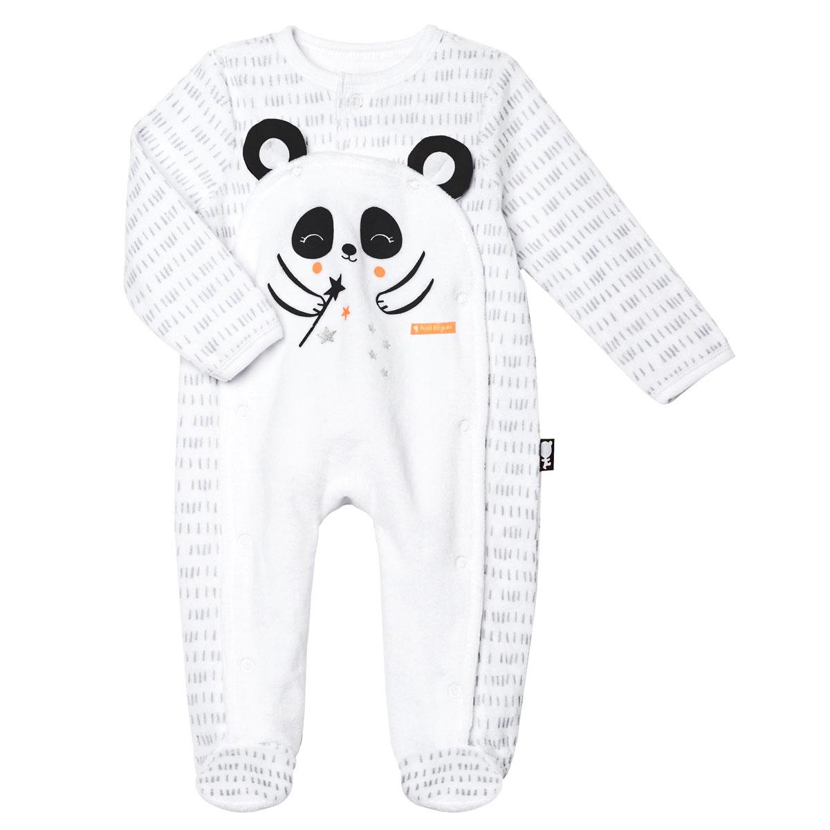 Pyjama bébé mixte velours Little Panda