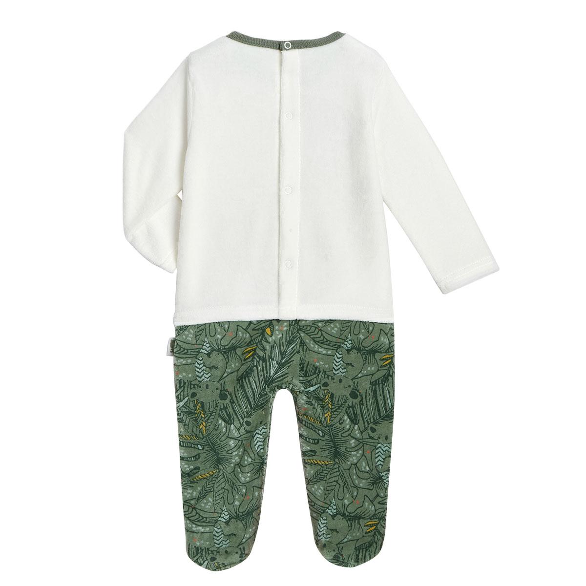 Pyjama bébé en velours Amazonie dos