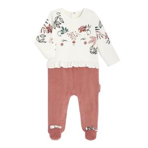 Pyjama bébé en velours contenant du coton bio Trinidad