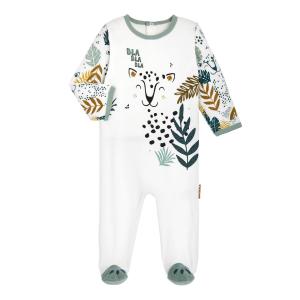 Pyjama bébé en velours contenant du coton bio Petit Bavard