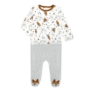 Pyjama bébé en velours contenant du coton bio Galaxie