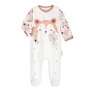 Pyjama bébé fille en velours contenant du coton bio Machu Picchu