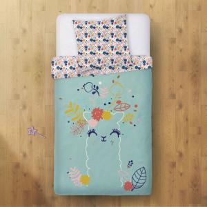 Housse de couette enfant + taie d'oreiller Lamapampa (140 x 200 cm)