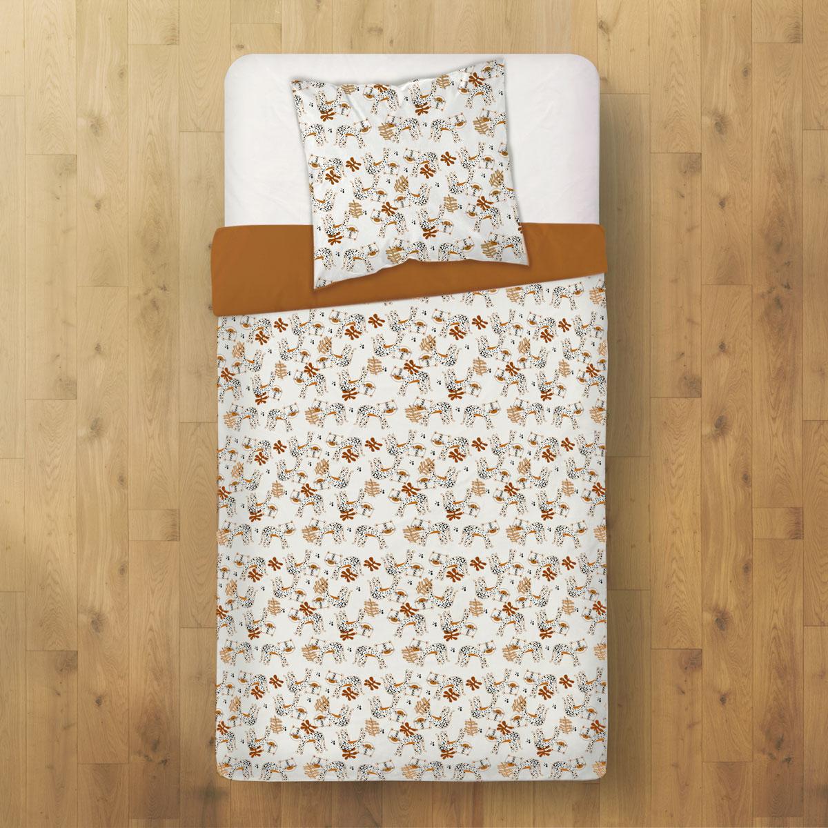 Housse de couette enfant + taie d'oreiller Benghali (140 x 200 cm) dos