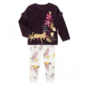 Pyjama fille manches longues contenant du coton bio Milie