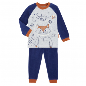 Pyjama garçon manches longues contenant du coton bio Mathis