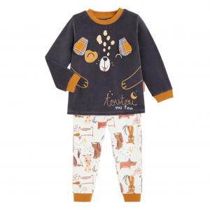 Pyjama garçon manches longues contenant du coton bio Milo