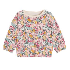 Sweat-shirt fille en molleton contenant du coton bio Machala