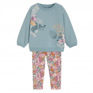 Pyjama fille manches longues en molleton Manbo