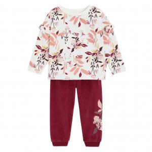 Pyjama fille manches longues contenant du coton bio Maeline