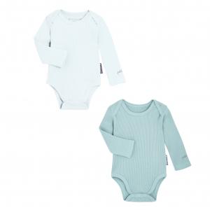 Lot de 2 bodies bébé mixte manches longues en coton bio