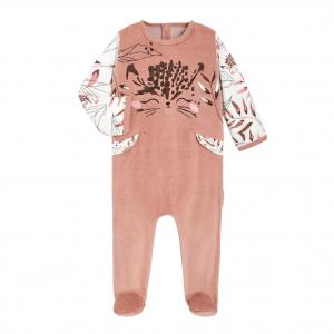 Pyjama bébé en velours contenant du coton bio Polène