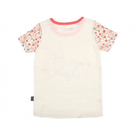 Tee shirt fille manches courtes Petite Plume