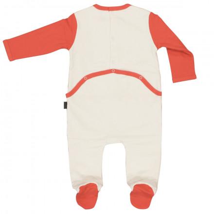 Grenouillère bébé garçon double épaisseur écru Totem Party