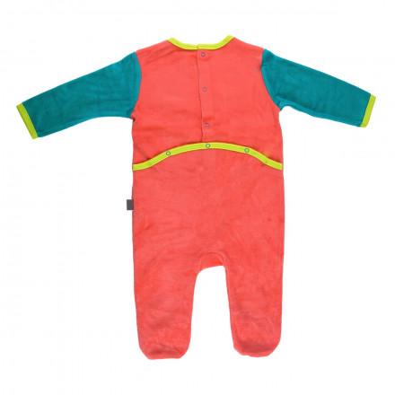 Grenouillère bébé garçon rouge Hihi