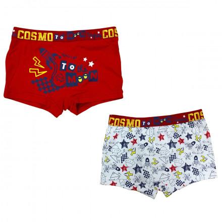 Lot de 2 boxers garçon Super Cosmo