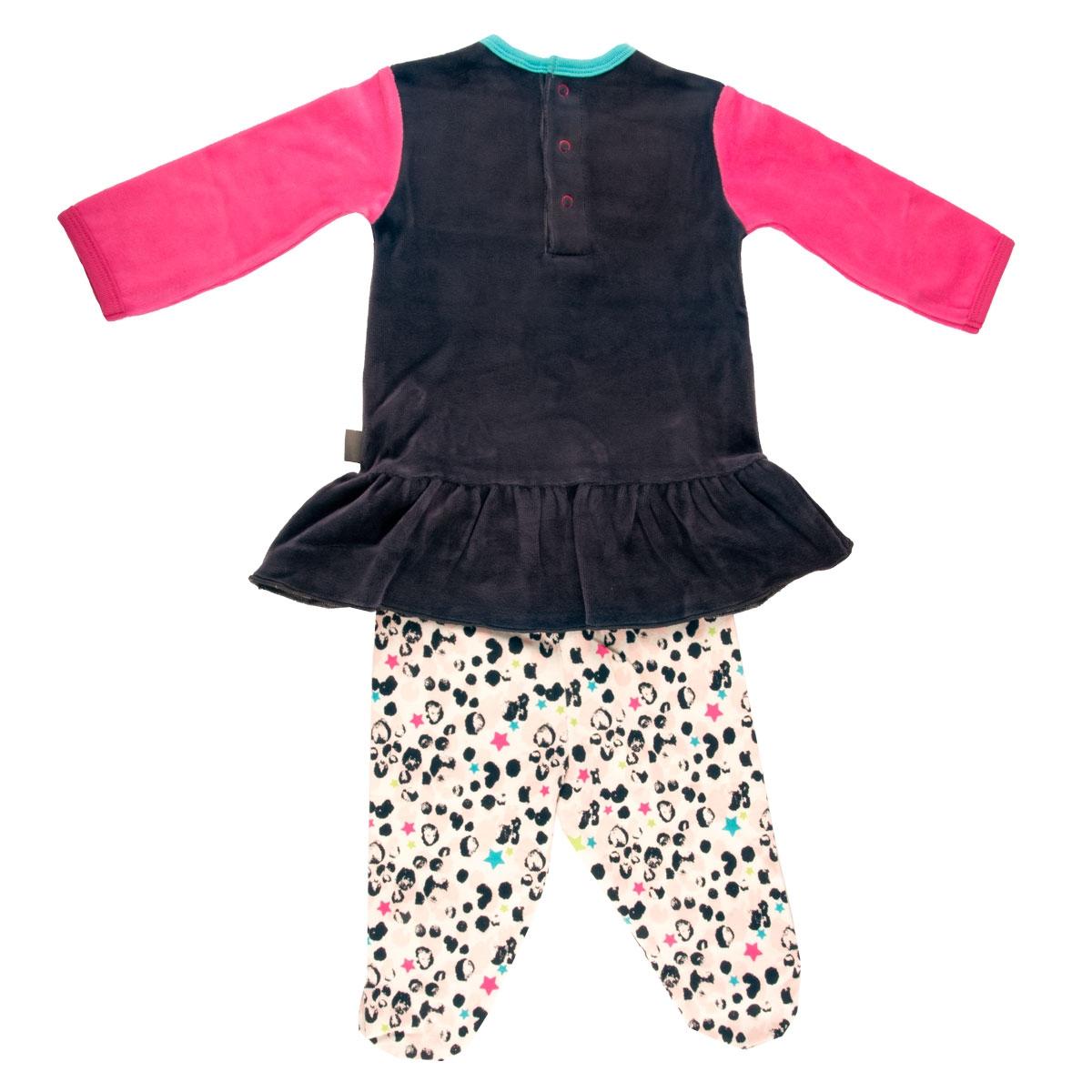 ee6a03d313aab Pyjama bébé 2 pièces avec pieds Wish - PETIT BEGUIN