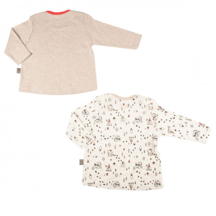 Lot de 2 t-shirts bébé garçon Forest Friend