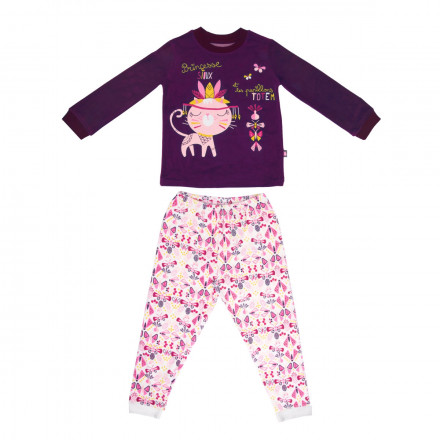 Pyjama fille manches longues Sioux