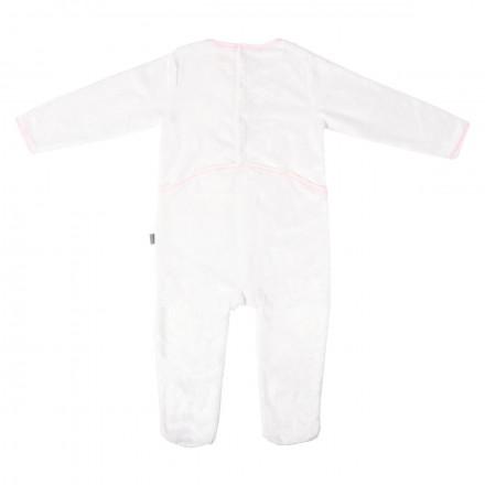 Grenouillère bébé fille fourrure rose fluo Petite Star