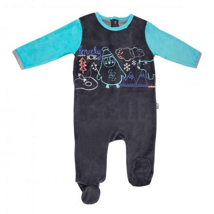 Grenouillère bébé garçon gris anthracite Igloo
