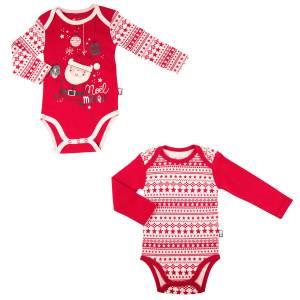 Lot de 2 bodies bébé mixte  Super Noël
