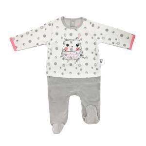 c9b985bb307a2 Grenouillère bébé fille effet 2 pièces Icebird · Pyjama bébé velours ...