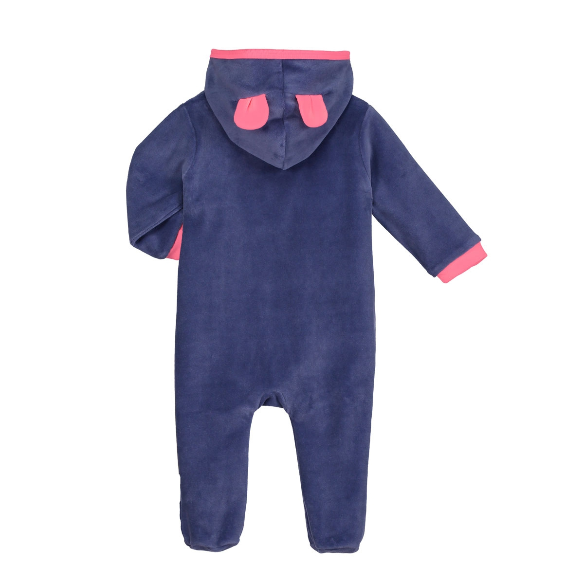 26348ecfb8081 Surpyjama bébé velours Maronette - PETIT BEGUIN