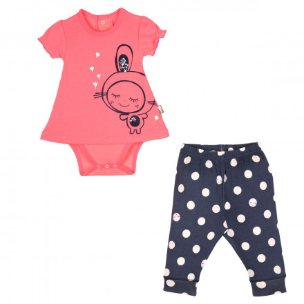 Ensemble bébé fille Body tunique + Legging Minilutin