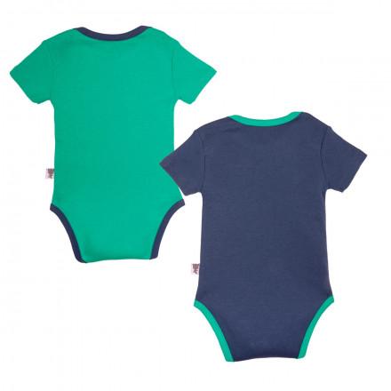 Lot de 2 bodies manches courtes bébé garçon Smallcity