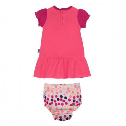 Ensemble robe + bloomer bébé fille A l'eau