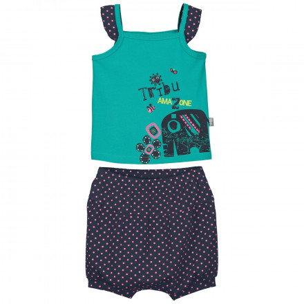 Ensemble t-shirt et sarouel bébé fille Matribu
