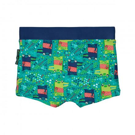 Boxer de bain garçon vert Wild Croco