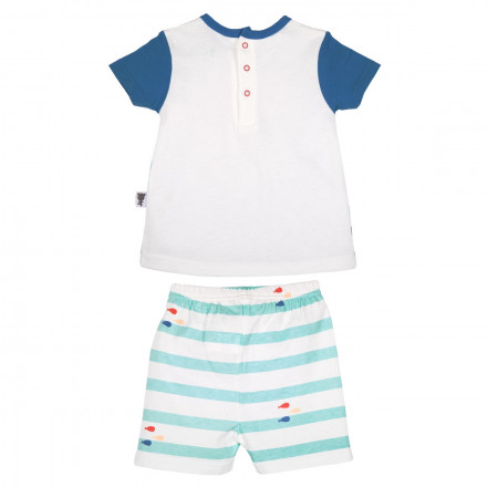 Ensemble t-shirt + short bébé garçon Bluefish