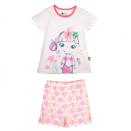 Pyjama fille manches courtes Mahina