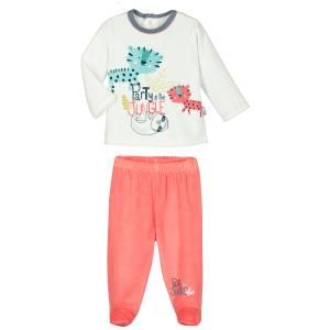 9237a1de9e5ba Ensemble velours bébé garçon T-shirt + pantalon Party Jungle