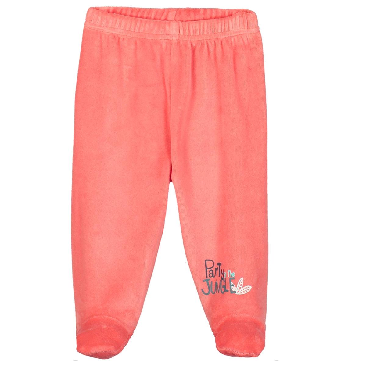 97713c7b3b8be Pyjama bébé 2 pièces velours avec pieds Party Jungle - PETIT BEGUIN
