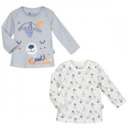 Lot de 2 t-shirts manches longues bébé garçon Magic Dragon