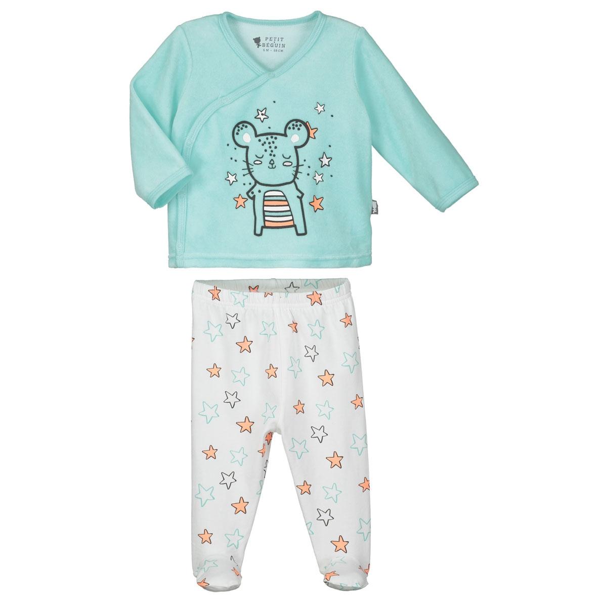 33a51ff5f6267 Pyjama bébé 2 pièces Lapinou - PETIT BEGUIN