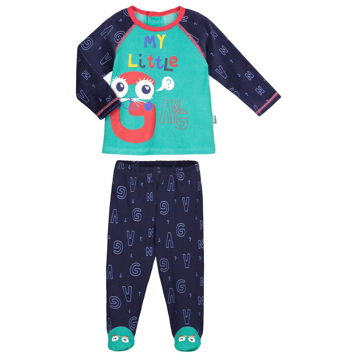 540d067e7ca85 Pyjama bébé 2 pièces avec pieds Gang - PETIT BEGUIN