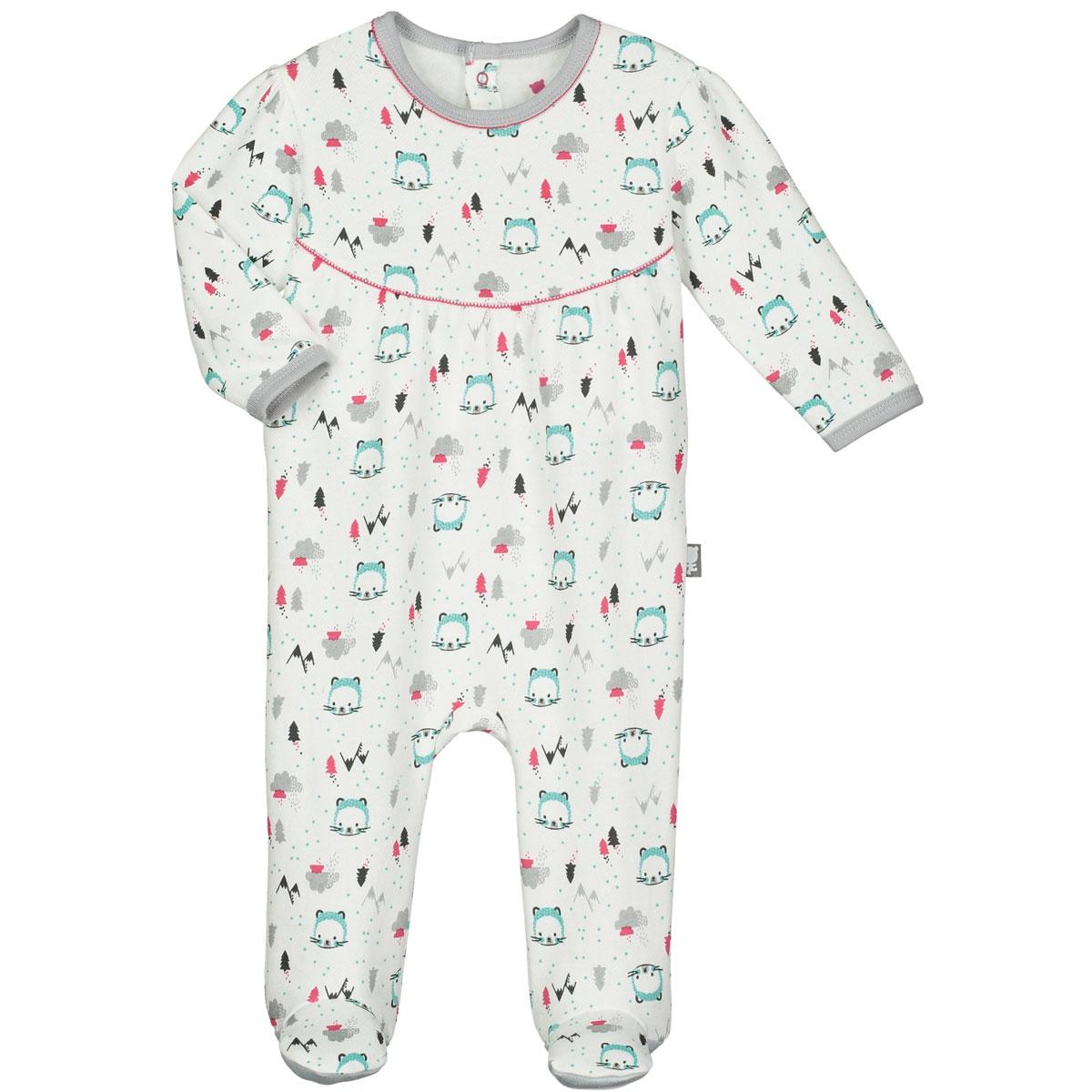 7d4190a165822 Pyjama bébé molleton Glisse - PETIT BEGUIN
