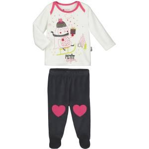 3e4ff2c8fe775 Pyjama bébé fille Lovesnow avec pieds. Pyjama bébé 2 pièces velours ...