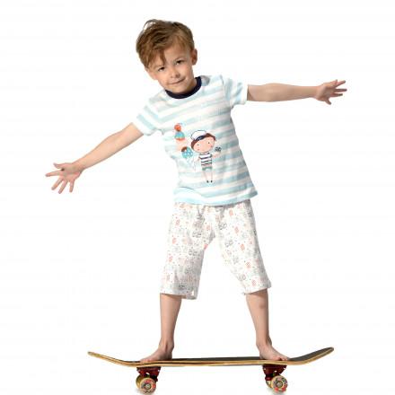 Pyjama garçon manches courtes Marin Kid