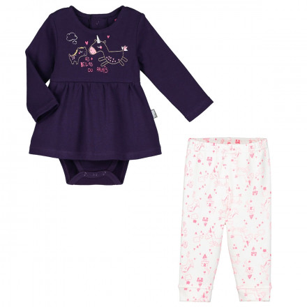Ensemble body tunique + legging bébé fille Lili