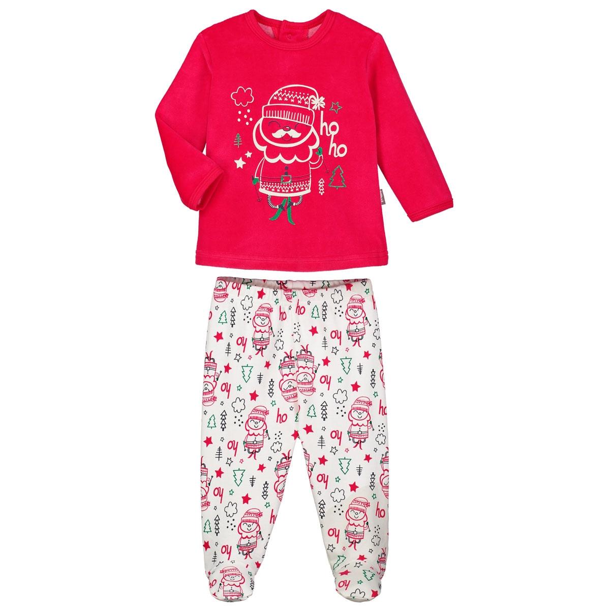 a629c37e6556e Pyjama bébé 2 pièces avec pieds Ho Ho - PETIT BEGUIN