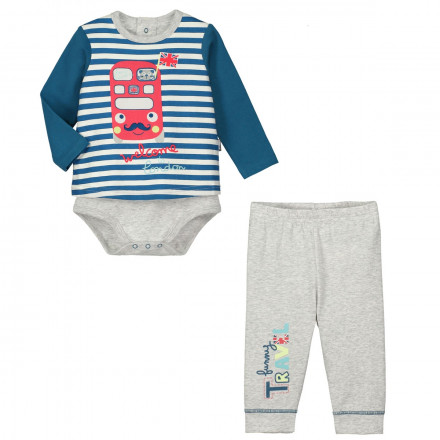 Ensemble body T-shirt + legging bébé garçon Funny London
