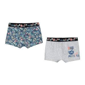 Lot de 2 boxers garçon Monster