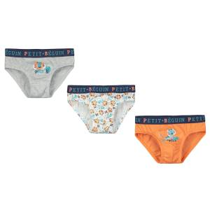 Lot de 3 slips garçon Jungle