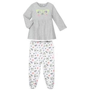 Pyjama bébé 2 pièces avec pieds Mini Girl