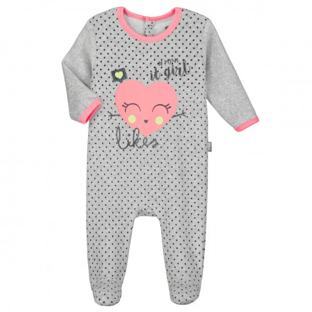 Pyjama bébé velours Mini Girl